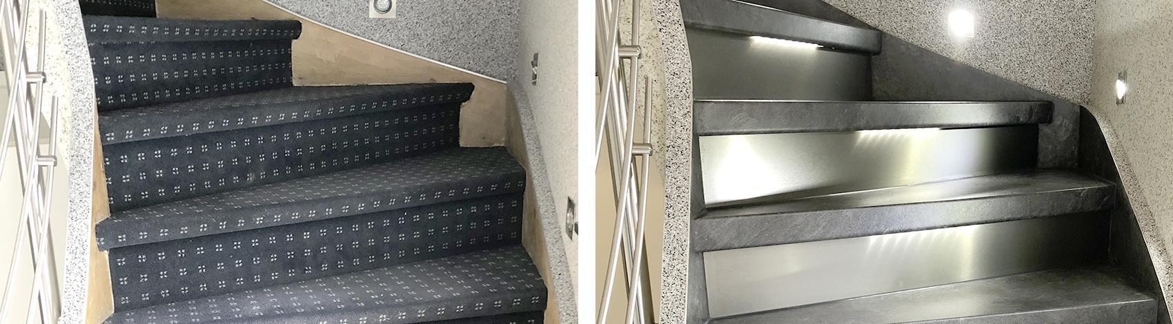Treppenrenovierung mit über 20 Dekoren.